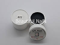 Гель-краска для ногтей UK.Nail №22 цвет черный ,7 грамм, фото 1
