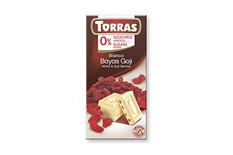 ШоколадTorras White & Goji Berries 75 g
