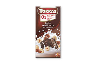 ШоколадTorras Milk& Hazelnuts 75 g