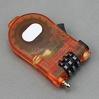 Противоугонный троссовый кодовый замок модель с выдвижным кабелем