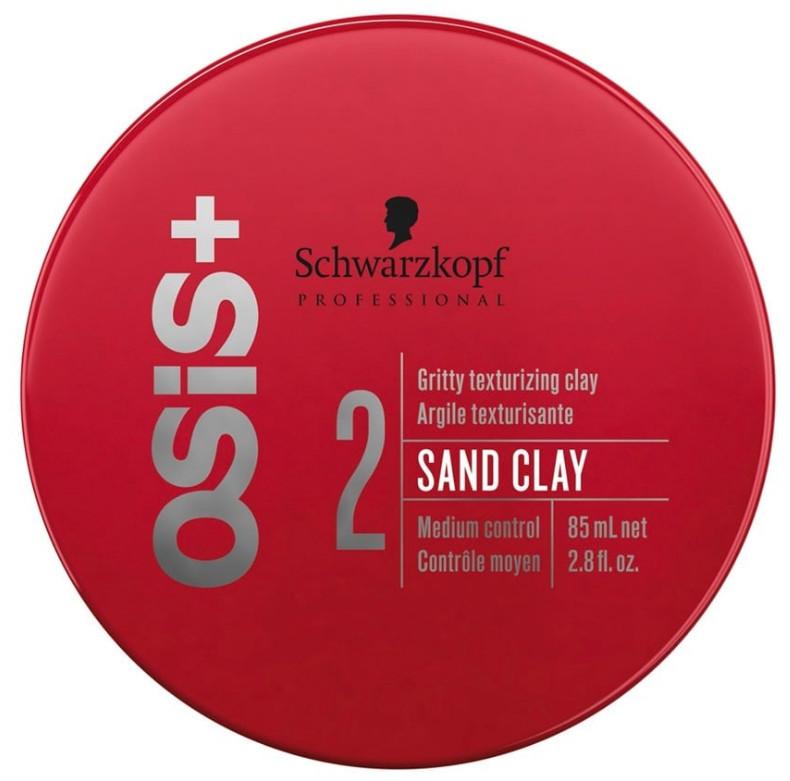 Schwarzkopf Osis Sand Clay   Паста-глина для моделирования прически 85мл