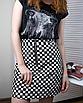 Трендовая юбка в шашечку с молнией кольцом, фото 3