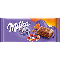 Шоколад Милка с кусочками хрустящей карамели Milka Daim  100 g