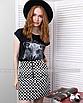 Трендовая юбка в шашечку с молнией кольцом, фото 4