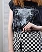 Трендовая юбка в шашечку с молнией кольцом, фото 5