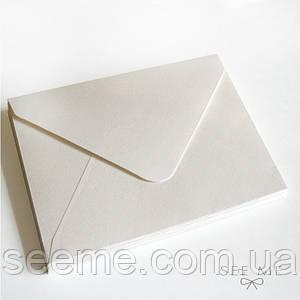 Конверт 162x113 мм, цвет белый
