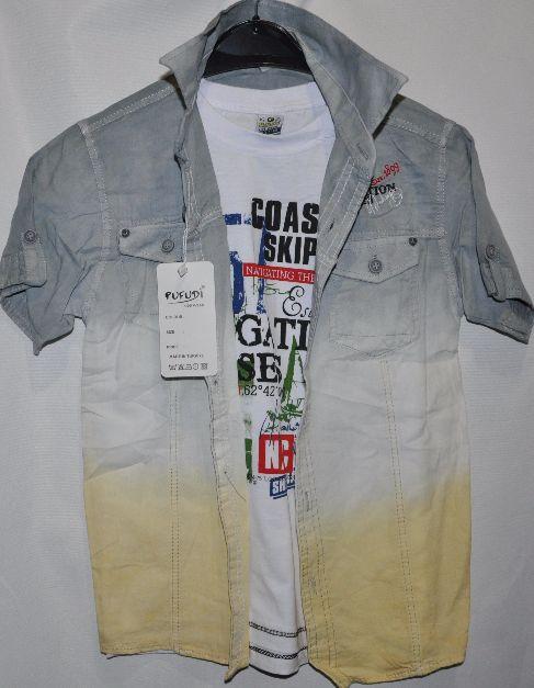 003b45fa9fb Рубашка+футболка для мальчиков от 9-12 лет.Детская одежда оптом ...