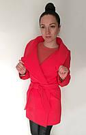 Пальто Oscar Fur  ПД-1   Ярко-красный