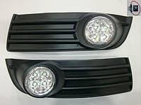 Штатные противотуманки на диодах Volkswagen Jetta 2006-2011 г.в.
