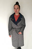 Пальто Oscar Fur  ПД-9  Серый, фото 1