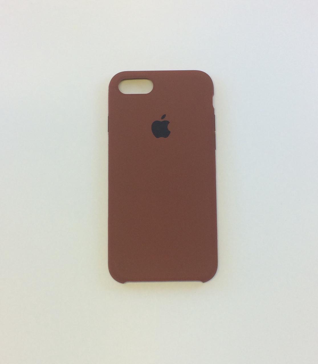 Силиконовый чехол для iPhone 8, - «шоколад» №47 - copy original
