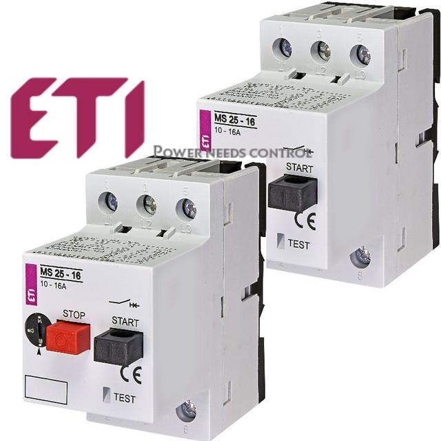 ETI автомати захисту двигуна