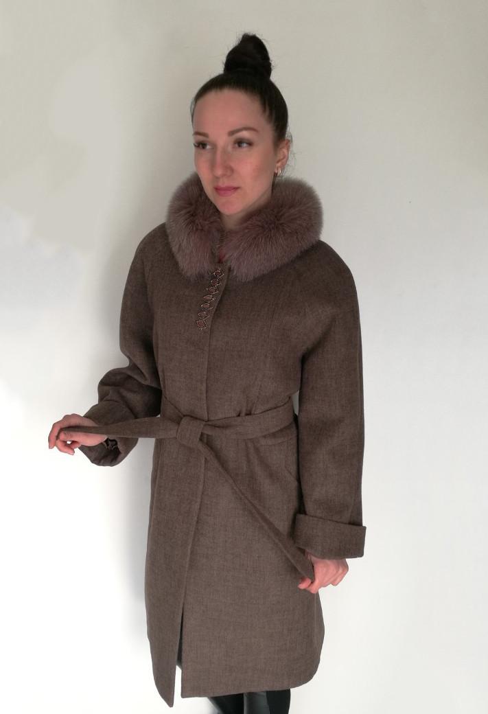 Пальто Oscar Fur  ПД-20  Светло-коричневый