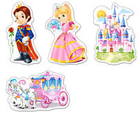 """Пазлы Castorland 4 в 1 """"Мир принцесс"""" 3*4*6*9 (05031)"""