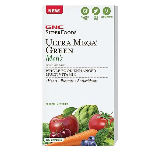GNC Ultra Mega Green Men's 120 caplets