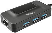 USB-хаб Trus Oila 3 Port USB 3.0 Hub With Network Port