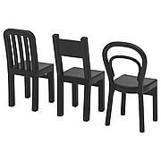 FJANTIG Крючки, набор 3 шт., черный 60347102 IKEA, ИКЕА, FJANTIG