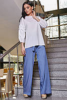 Белая блуза свободного кроя SV 3344, фото 1