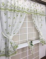 "Кухонные шторы ""Натюрморт"" Зеленый, фото 3"