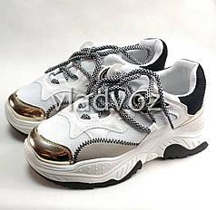 Подростковые модные кроссовки для девочки на девочек белые 36р.