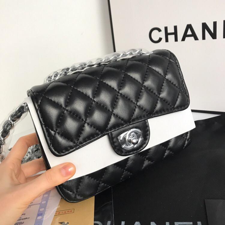 720b738b94dd ... Клатч сумка Шанель 2.55 кожаная мини в черном цвете с серебром, ...