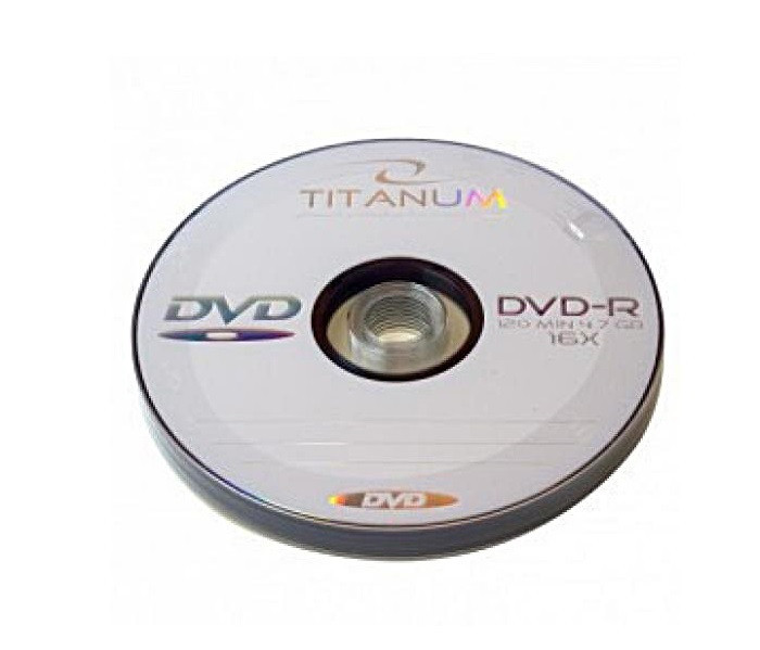 Диски DVD-R 10 шт. Titanum, 4.7Gb, 16x, Bulk Box