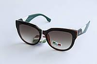 Солнцезащитные очки лисички коричневого цвета, фото 1