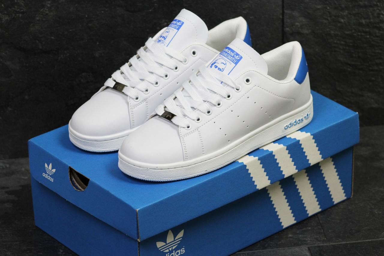781ca5e7767886 Мужские кроссовки в стиле Adidas Stan Smith белые с синим 40 - Sport Star в  Одессе