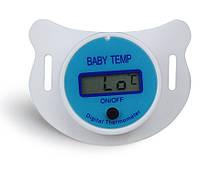Соска-пустушка SUNROZ для немовлят з термометром Блакитний (SUN3909)