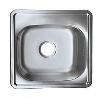 Мойка кухонная 48*48 см врезная Platinum покрытие декор 0,6 мм глубина 15 см