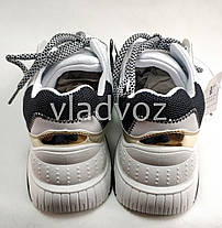 Подростковые модные кроссовки для девочки на девочек белые 37р., фото 2