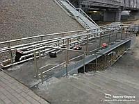 Поручни, ограждения и перила для пандусов инвалидов из нержавеющей стали