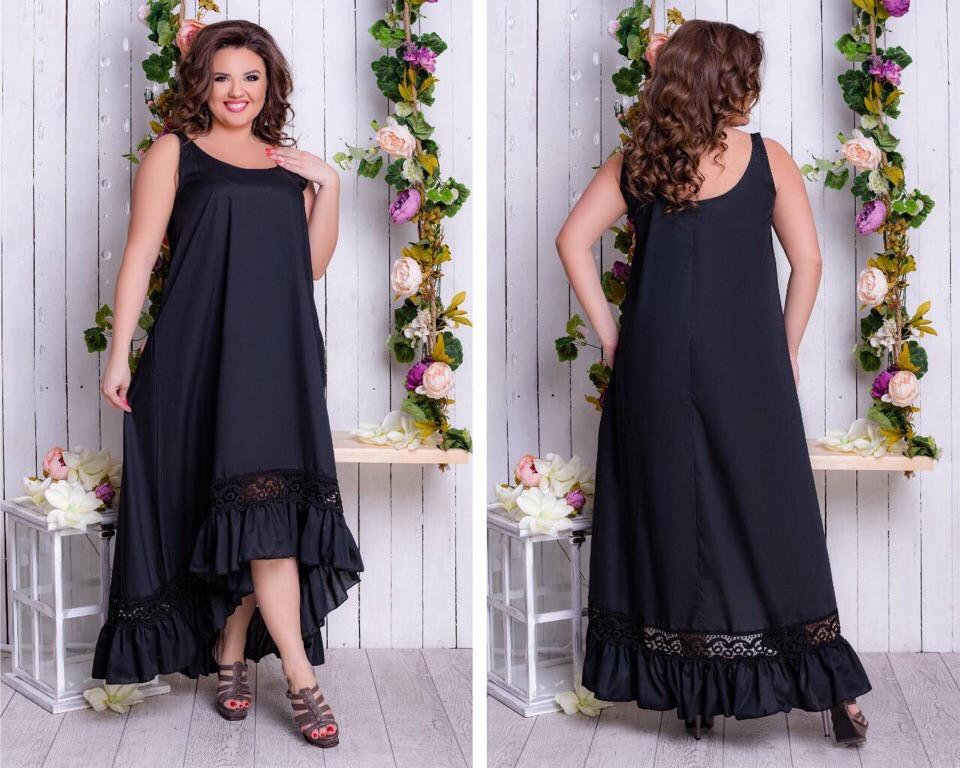 Платье  БАТАЛ в расцветках  кружево 64343.1