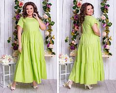 Платье  в пол БАТАЛ в расцветках  64345.1