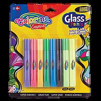 Витражные краски, 8 цветов (6 стандартных и 2 светящихся в темноте) краски для стекла Colorino