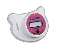 Соска-пустушка SUNROZ для немовлят з термометром Рожевий (SUN3910)