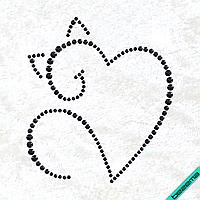 Малюнки на одяг Серці кот ( 2мм-черн.,3мм-черн.,4мм-черн.)
