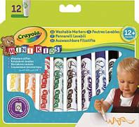 Змиваються фломастери для малят (12 шт) яскраві кольори товста форма Mini Kids Crayola