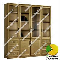 Книжный шкаф для гостиной Ш: 2000 мм, Г: 300 мм, В: 2400 мм