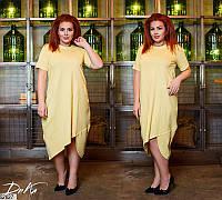 Летнее платье женское свободное коттоновое 50-56 размеров Турция, 4 цвета