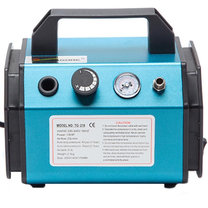 Миникомпрессор для аэрографа 23 л/мин с ресивером 0,3 л. TAGORE TG-218