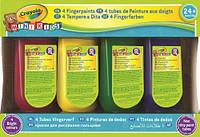 Пальчиковые краски (4 шт) бутылочки с дозаторами легко смывается Mini Kids Crayola, фото 1