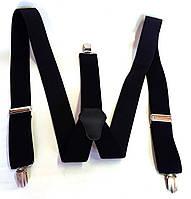 Подтяжки для брюк ширина 3,5 см, черные