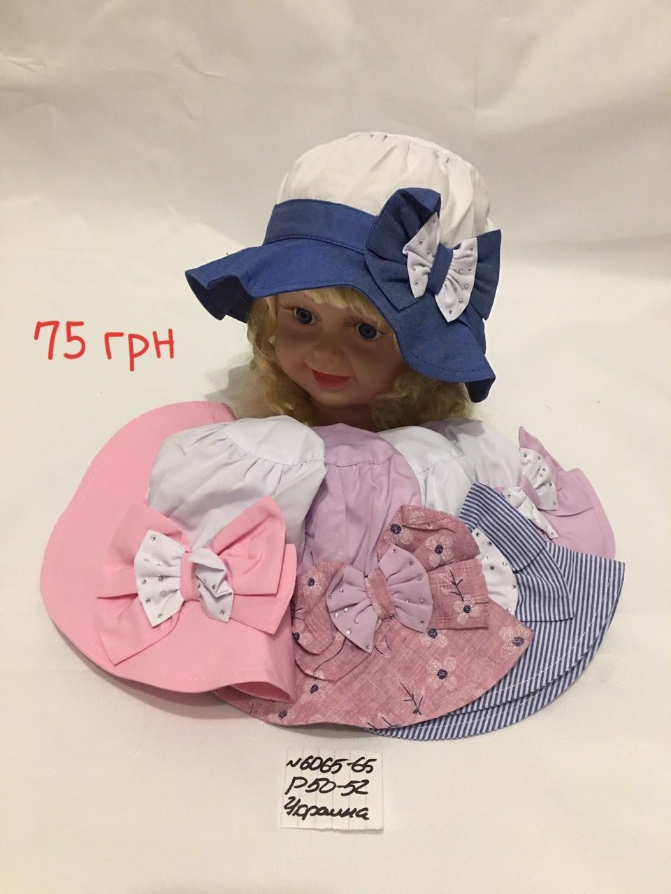 Детская панамка для девочки Бант,р.50-52,коттон