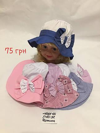 Детская панамка для девочки Бант,р.50-52,коттон, фото 2