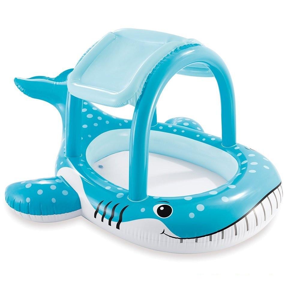 Детский надувной бассейн Кит Intex 57125 с навесом