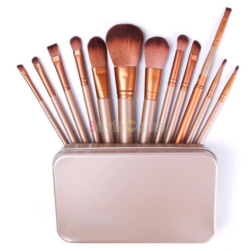 Профессиональный набор кистей для макияжа 12 штуки