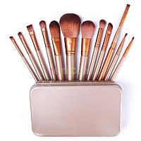 Профессиональный набор кистей для макияжа 12 штуки, фото 1