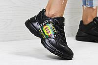 Женские кроссовки в стиле Gucci, черные 36 (23 см)