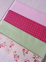 Набор ткани для рукоделия 4 отреза 40*40 см